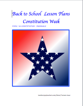 FREE Back to School Lesson Plans!